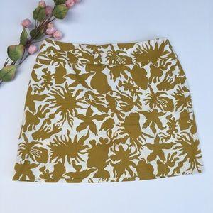 J. Crew Factory 100% Cotton Sea Life Mini Skirt